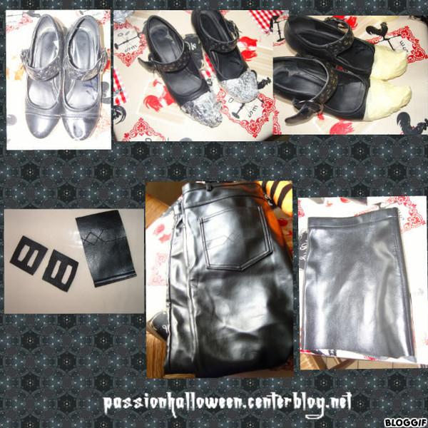 Récupération et découpe pour chaussure sorcière