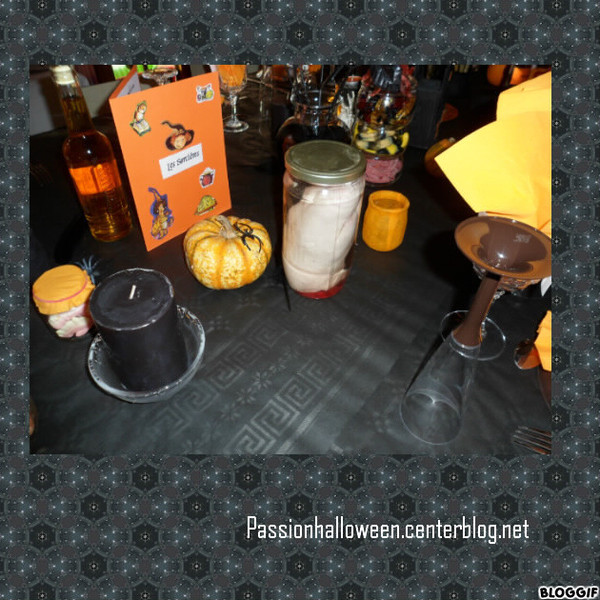 Décoration de la table Halloween 2011