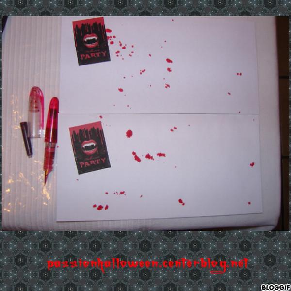 Enveloppe invitation halloween 2014