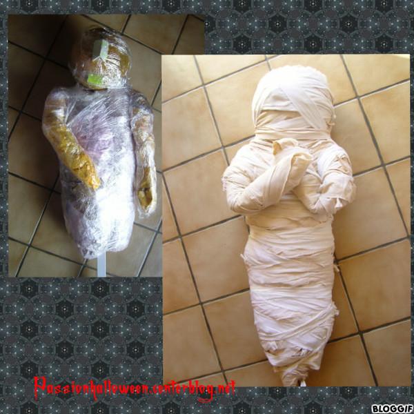 Montage de la momie
