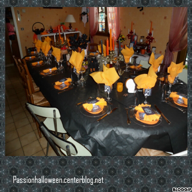D coration de la table halloween 2011 for Decoration de table halloween